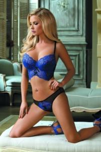 Blauwe sexy lingerie
